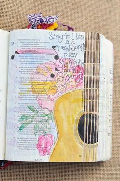 Psalm 33:3, 1-18-2017, carol@belleauway.com, watercolor, Illustrated Faith pen, bible art journaling, bible journaling, illustrated faith