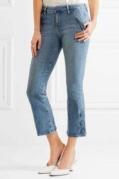 Blue stretch-denim Button and concealed zip fastening at front 68.5% cotton, 25% Tencel, 5% polyester, 1.5% elastane Machine wash Designer wash: Walsh