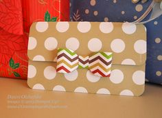 "Dawn's Easy Gift Card Holder One sheet of Season of Syle Designer Series Paper Stack (6-1/2"" x 4-1/2"") Score at 1-5/8"" & 4-3/8 Fold, then a..."