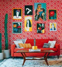 our favorite maximalist eclectic living room decor living room red Best Living Room Design Ideas 2018 Small Living Room Design, Colourful Living Room, Eclectic Living Room, Living Room Colors, Living Room Designs, Design Salon, Deco Design, Design Design, Loft Design