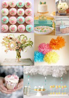 Pinterest Baby Showers Ideas   Cupcakes: Hello Naomi 2. Cake, flowers, drink: Pinterest