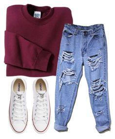 """""""8.27.15"""" by lexytj3 ❤ liked on Polyvore featuring Converse and Gildan"""