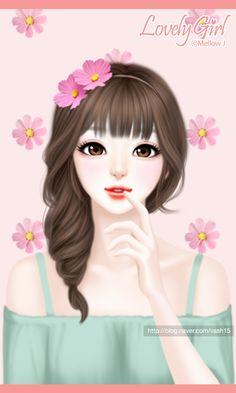 gambar art, background, and beauty Cartoon Girl Images, Cute Cartoon Girl, Kawai Japan, Anime Korea, Horse Girl Photography, Lovely Girl Image, Cute Girl Drawing, Girly Drawings, Cute Girl Wallpaper