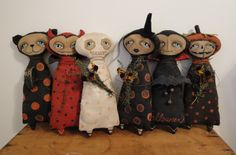 Brenda Jett Sanker Primitive Folk Art: Past Work Halloween Projects, Halloween Themes, Fall Projects, Primitive Patterns, Primitive Folk Art, Primitive Crafts, Art Dolls, Dolls Dolls, Kuchen