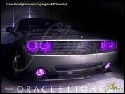 Oracle 08-14 Dodge Challenger w/Pro LED ColorSHIFT Halo Rings Headlights Bulbs