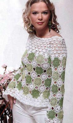 Handmade crochet cute summer women crochet blouse - MADE TO ORDER