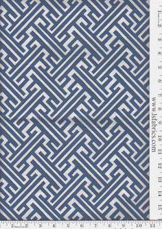 Trellis Cotton, cobalt color, $21.98