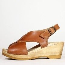 Oh dear, they come in brown too. I want, I want. Crossover Clog on Mid Wedge by No. 6 Store