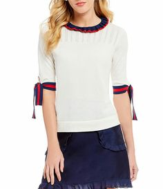 121408f765718 Draper James Bow Sleeve Sweater