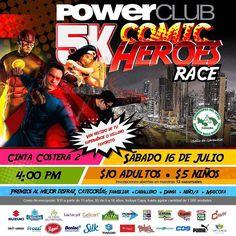 Faltan 5 días para la carrera #ComicHeroesRace5k @powerclubpanama sábado 16 de julio #CintaCostera ven disfrazado muchos premios !!! Y en tarima @realphantominattack  Adultos B/.10.00 niños B/.5.00
