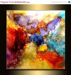 Huge Abstract Painting Original Abstract by newwaveartgallery, $3600.00