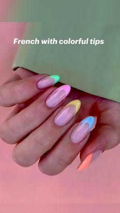 Opi Gel Nail Colors, Opi Gel Nails, Hot Nails, Swag Nails, Chrome Nails Designs, Nail Designs, French Tip Gel Nails, Oval Acrylic Nails, Colored Nail Tips