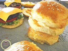 Homemade burger bread