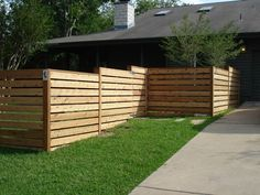 Awesome Modern Front Yard Privacy Fences Ideas - All For Garden Diy Fence, Backyard Fences, Fence Gate, Backyard Landscaping, Fence Ideas, Sloped Backyard, Front Fence, Fence Panels, Backyard Ideas