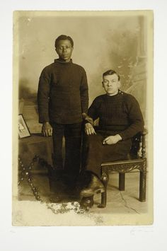 We Are The People No. 3. Two Men. Aberdeen 1919 Tom Phillips, Frank Auerbach, Two Men, Gay Couple, Man In Love, Alter, Vintage Men, Vintage Photos, The Past