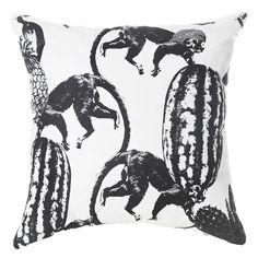 Funky Monkey Putetrekk 60x60cm, Sort - Lisa Bengtsson - Lisa Bengtsson - RoyalDesign.no