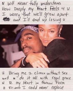 Tupac quotes - Tupac & Jada pinkett Smith i swear their bond was everything they definitely would have been together if he didn't get killed R I P Tupac And Jada, Tupac Wallpaper, Tupac Pictures, Life Pictures, Photographie Indie, Beau Message, Rapper Quotes, Les Sentiments, Black Love