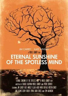 An alternative movie poster for the film Eternal Sunshine of the Spotless Mind, created by Joel Amat Guell, featured on AMP Movie Poster Art, Poster S, Poster Prints, Art Prints, Minimal Movie Posters, Minimal Poster, Cool Posters, Great Films, Good Movies