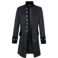 Mens Velvet Goth Steampunk Victorian Frock Coat (5.200 RUB) ❤ liked on Polyvore…