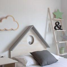 Tête de lit enfant Casita gris pajarito: