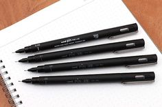 Uni Pin Pen 03 Pigment Ink - 0.38 mm - Black Ink by niconecozakkaya on Etsy