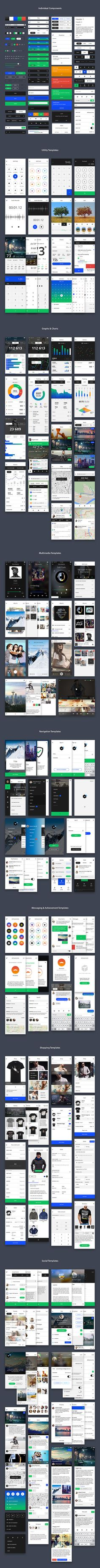 An impressive collection of individual components and templates that will allow you to easily design beautiful apps...