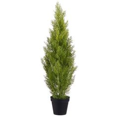 3' Cedar Cone-Shaped Artificial Topiary Tree w/Pot Indoor/Outdoor -Light Green (pack of 4) *** For more information, visit image link.