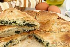 Receita de Torta folhada de espinafre em receitas de tortas salgadas, veja essa e outras receitas aqui!