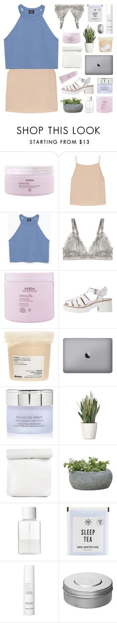 """turn your magic on"" by f-4bulous ❤ liked on Polyvore featuring Aveda, T By Alexander Wang, Zara, STELLA McCARTNEY, Lily White, Davines, By Terry, PLANT, Campania International and SUQQU"