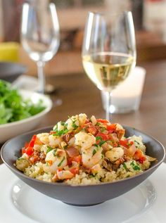 Quick Dinner Recipe: Saucy Sautéed Shrimp over Lemon Quinoa Recipes from The Kitchn | The Kitchn