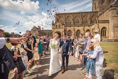 Confetti outside Sherborne abbey in Dorset Wedding Hymns, Marquee Wedding, Wedding Dj, Wedding Venues, Afro Dance, Funny Speeches, Wedding Confetti, Dance Photos, Father Of The Bride