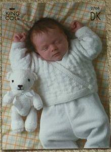 e991df0729c4 Babies Wrap-over Cardigan DK Knitting Pattern