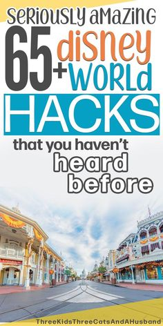 Walt Disney World vacation planning tips, tricks, and secrets -- How do I get a Disney wake up call? How do I beat the crowds on Main Street in Magic Kingdom? Learn 65 Disney line hacks, monorail secrets, and Disney transportation hacks. Includes cool and unique things to buy from Amazon for Disney trip. #WDW #DisneyWorld #Disneyvacationplanning