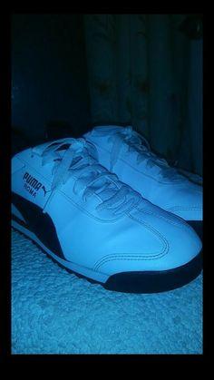 f53e1c12d46 PUMA Roma Basic Classic 35357204 White Black Mens Shoes Sneakers All Sizes   fashion  clothing