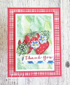 3 Sweet Strawberry Cards | One Color Combo | Luvin Stampin Thank You Gifts, Thank You Cards, Fun Fold Cards, Color Card, Have Some Fun, One Color, Stampin Up Cards, Color Combos, Berries
