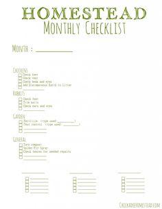 Monthly+Homesteading+Checklist+**freebie**
