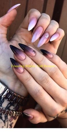 Stiletto nails fall , stiletto nägel fallen , les ongles stiletto tombent , las … in 2020 Summer Stiletto Nails, Stiletto Nail Art, Summer Nails, Acrylic Nails, Fall Nail Art Designs, Simple Nail Designs, Clean Nails, Fun Nails, Beauty Nail