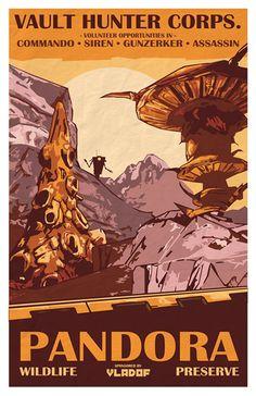 Borderlands 2 Pandora Wildlife Preserve Vintage by KnerdKraft