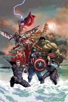 #Avengers #Fan #Art. (Avengers (for Disney Asia) By: Leinil Yu. (THE * 5 * STÅR * ÅWARD * OF: * AW YEAH, IT'S MAJOR ÅWESOMENESS!!!™)[THANK U 4 PINNING!!!<·><]<©>ÅÅÅ+(OB4E)