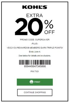 kohls coupon may 2019
