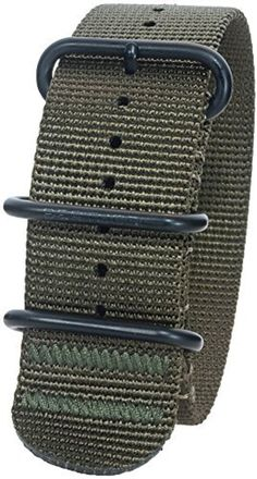 Bertucci DX3 B-127B Defender Olive 26mm Nylon Watch Band by bertucci -- Awesome products selected by Anna Churchill