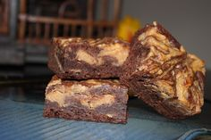 Peanut Butter Brownies!  Yes, they really are as good as they look!      Volume Two | urbnspice.com