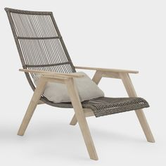 Teak Wood and All Weather Wicker Hakui Chairs Set of 2
