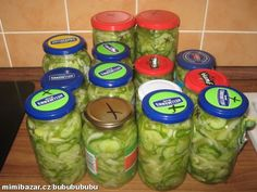 Čalamáda z okurek Lettuce, Preserves, Guacamole, Pickles, Cooking Recipes, Homemade, Canning, Vegetables, Drinks