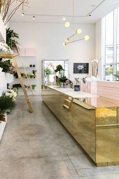 The purdiest interior design for a modern NZ florist... Photography by Michelle Weir / Studio Weir