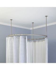 Signature Hardware 36 Heavy Duty Round Shower Curtain Rod