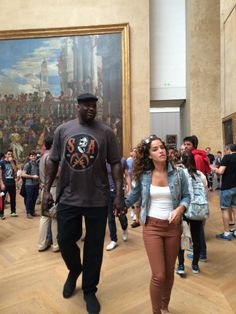 Northern Europe Tour June 2014 - Shaq...in Paris at the Louvre....so much for Mona Lisa