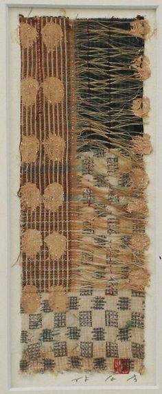 takahikohayashi:    Archipelago-1995(6-2)The original portfolio by Collage works used Okinawan antique fabricsHAYASHI Takahiko 1995furnished data by Gallely SINCERITE