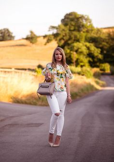 f380359915 Coast Harrison Bardot Top With White Jeans | Raindrops of Sapphire Celine  Micro, Bardot Top