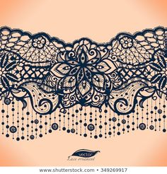 Abstract lace ribbon seamless pattern with elements flowers. Template frame desi… Abstract lace ribbon seamless pattern with elements flowers. Ink Tattoo, Body Art Tattoos, Sleeve Tattoos, Bird Tattoos, Feather Tattoos, Nature Tattoos, Crown Tattoos, Heart Tattoos, Wrist Tattoo